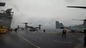 USS America conducts flight operations