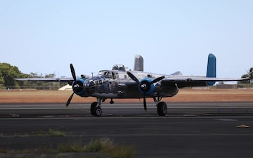 Warbirds Arrive to Wheeler Army Airfield B-roll