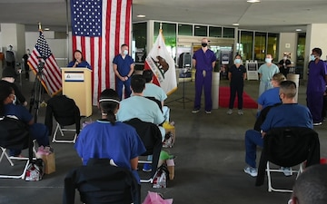 Air Force medical support team given sendoff from Kaweah Delta Medical Center