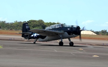 WWII-Era Warbirds Fly Over Hawaii