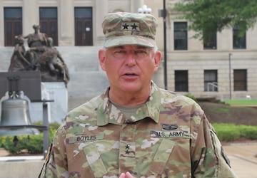 U.S. Army Maj. Gen. Janson D. Boyles' message to Uzbekistan