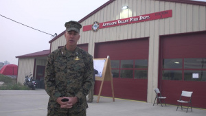 MCMWTC Commander Addresses Firefighters and Marines Combating Slink Fire