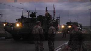 2d Calvary Regiment Strykers Arrive at the Vaziani Training Area