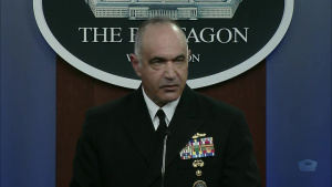 U.S. Strategic Commander Briefs Reporters at the Pentagon