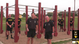 III Armored Corps Leg Tuck Challenge
