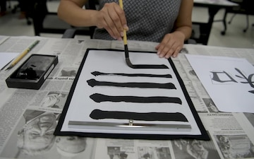 MCAS Iwakuni residents immerse themselves in the Japanese culture with calligraphy (B-Roll)
