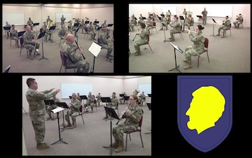 "144th Army Band Performs Armed Services Tribute and ""Bear Down"""