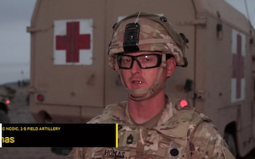 Combat medics work to maintain 1st ID's fighting force during first ever division NTC rotation.