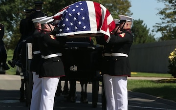 Marine Corps Body Bearers Lay Repatriated WWII Marine Pfc. Harry Morrissey to Rest at Arlington National Cemetery (B-Roll)