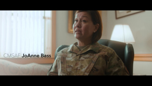 That's Air University-CMSAF JoAnne Bass