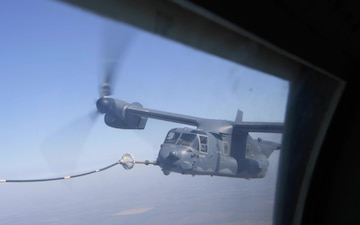 CV-22 air refueling during Exercise FICTION URCHIN