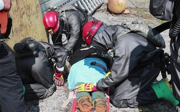 287th MAC Rope Rescue exercise