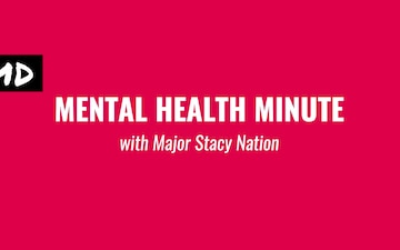 Mental Health Minute: September Edition