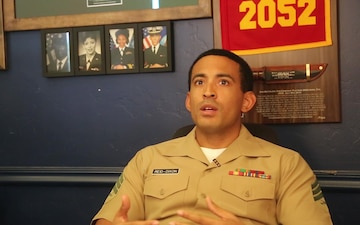 Sargeant Reid-Dixon talks about his family's military lineage
