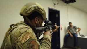 Eyes on target: Robins Security Forces train in active shooter drill