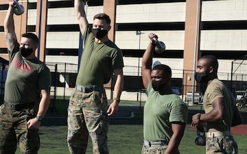 Marines start day with intense HITT Competition