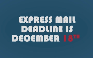 Mail Holiday Packages Early to Arrive before Dec. 25