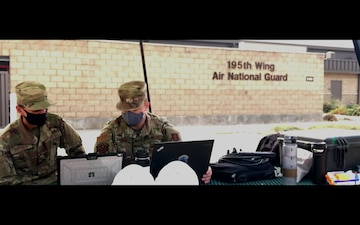 222 ISS provide wild fire support from Beale AFB