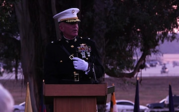 B-Roll: Camp Pendleton hosts the 78th Annual Evening Colors Ceremony