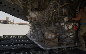 C-17 delivers supplies to PSAB