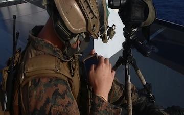Eyes on you: 31st MEU's MRF sniper team observes VBSS on USS Germantown (LSD 42)