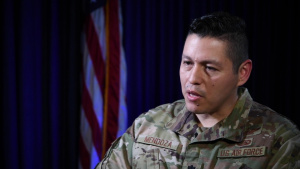 Lt. Col Mendoza Speaks on Hispanic Heritage Month