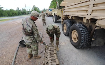 Bastogne Soldiers Conduct Refueling Operations at JRTC