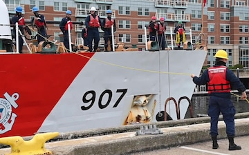 B-Roll: Coast Guard Cutter Escanaba returns home to Boston after 65 day patrol