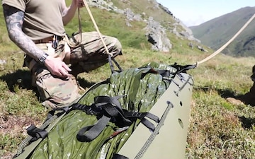 KFOR troops conduct mountaineering training in Kosovo