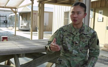 Spc. Amy Chen talks about life from sports to aviation