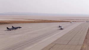 Elephant Walk At Edwards Air Force Base During Aerospace Valley Hybrid Air Show
