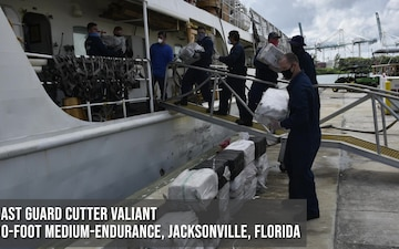 Coast Guard crews offload more than $187 million worth of narcotics in District 7