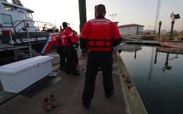 Coast Guard Cutter Hawser Cold Water Training