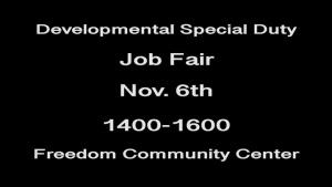 97 AMW Developmental Special Duty job fair