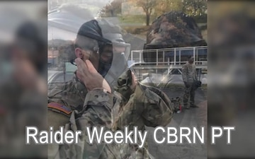 Raiders conduct weekly CBRN PT
