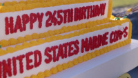 III MEF Marine Corps 245th birthday cake cutting ceremony