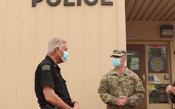 Oregon National Guard and Warm Springs Police department work together to tackle Lionshead fire