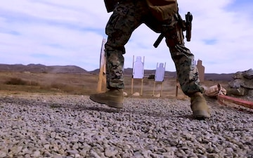 Race against the clock: Marines engage targets during marksmanship competition