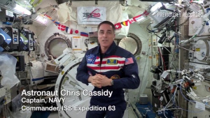 A tribute to veterans from space