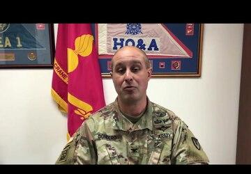 Crane Army Commander Provides Veterans Day Message to Washington High School
