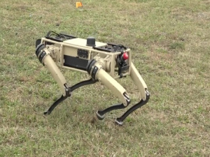 Inside AFIMSC Tyndall AFB 'Robot Dogs' Demonstration -- NO LOWER THIRDS