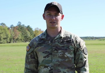 Spc. Forrest Greenwood Gives a Thanksgiving Greeting