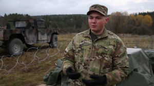 1-4 IN Soldier talks about ammunition at EIB