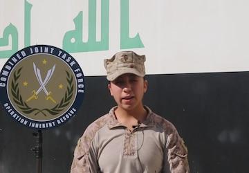 Sgt. Cynthia Lopez Thanksgiving greeting