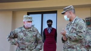 IMCOM CG Tours Fort Hood Barracks.