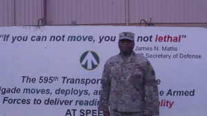 Command Sgt. Maj. Davis Thanksgiving Greeting Greenville Miss.