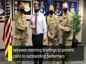 Inside AFIMSC — Maj. Gen. Tom Wilcox and Chief Master Sgt. Edwin Ludwigsen visits Tyndall