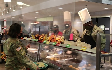Fort McCoy 2020 Thanksgiving Meal serving at Noncommissioned Officer Academy Dining Facility, Part II