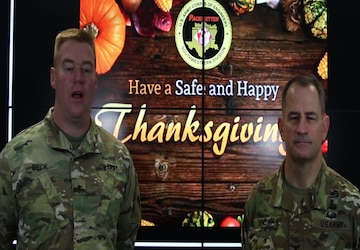 Thanksgiving message from SWD Commander & Deputy Commander