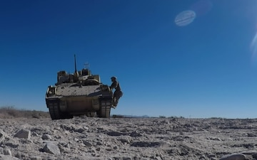 Getting behind the wheel: 1-1 CAV conducts Bradley gunnery during home station training at Bliss